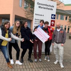Spendenübergabe der Schülervertretung der Gesamtschule Marienheide